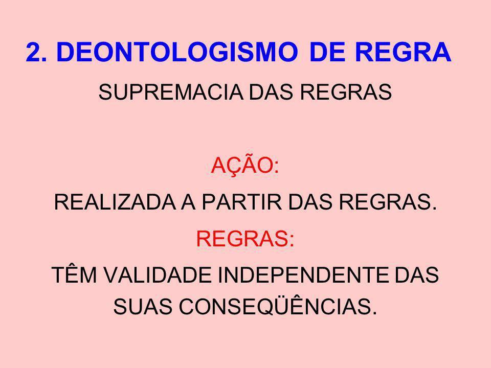 2. DEONTOLOGISMO DE REGRA