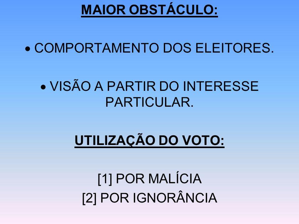  COMPORTAMENTO DOS ELEITORES.