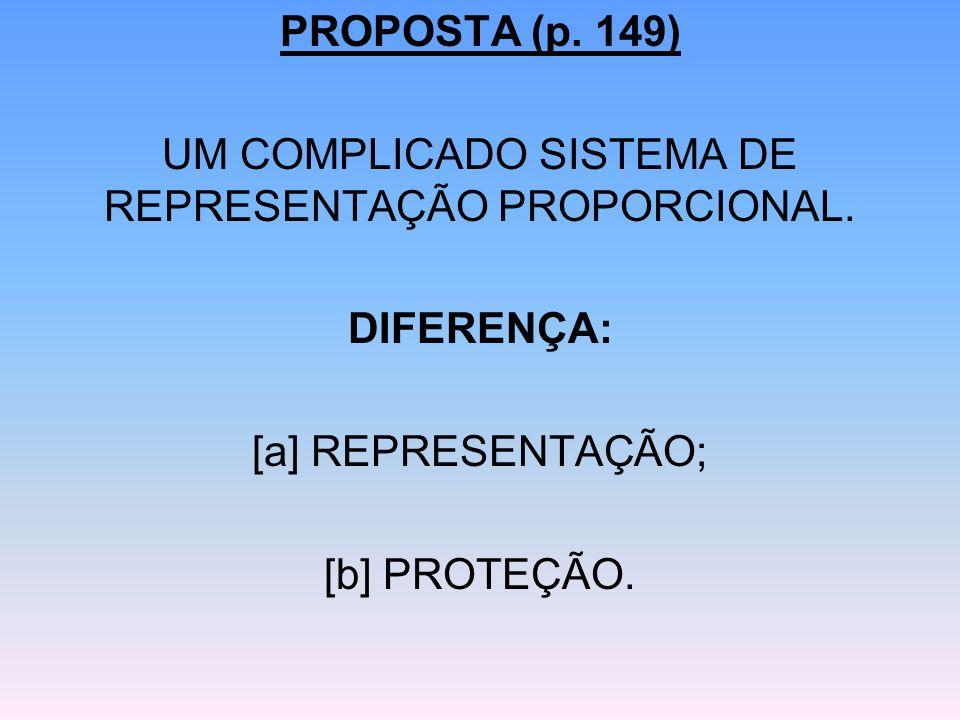 UM COMPLICADO SISTEMA DE REPRESENTAÇÃO PROPORCIONAL.