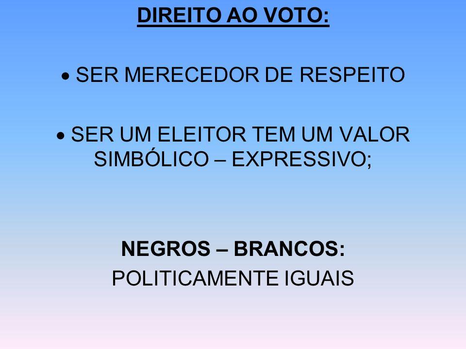  SER MERECEDOR DE RESPEITO
