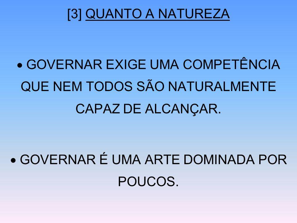 GOVERNAR É UMA ARTE DOMINADA POR POUCOS.