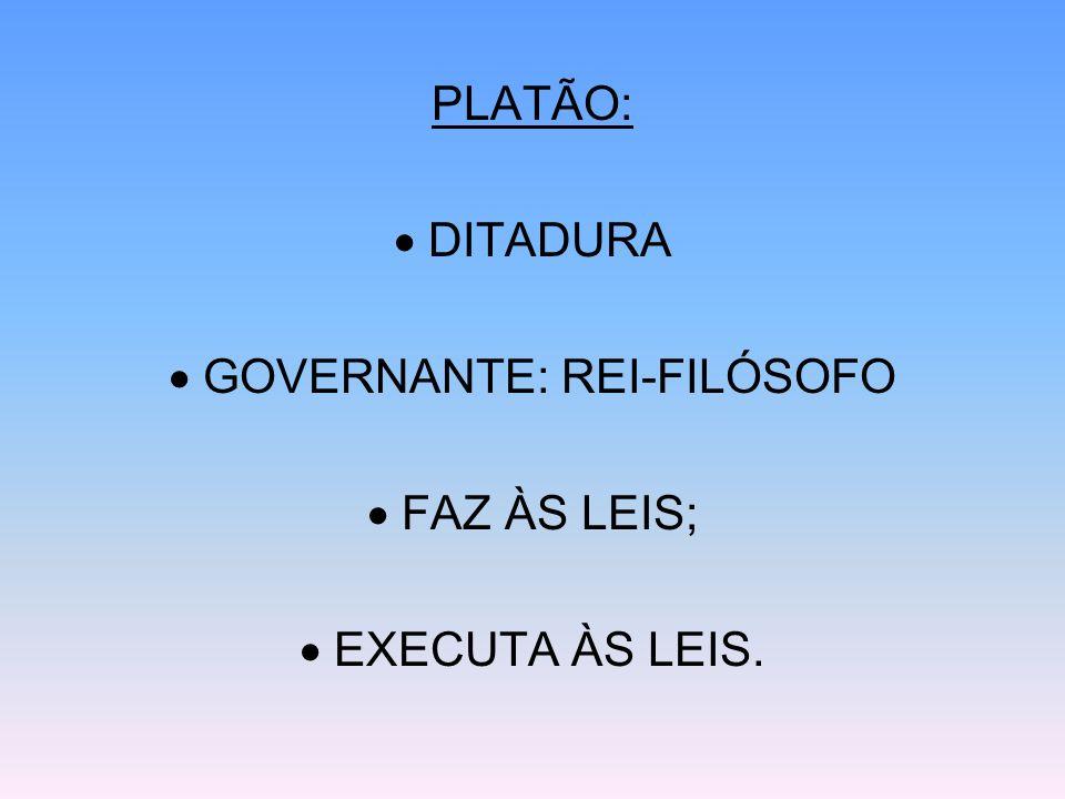  GOVERNANTE: REI-FILÓSOFO
