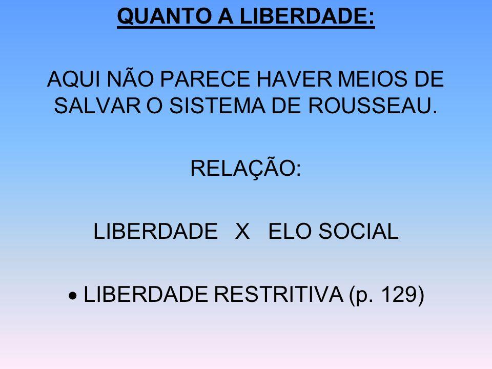 AQUI NÃO PARECE HAVER MEIOS DE SALVAR O SISTEMA DE ROUSSEAU.