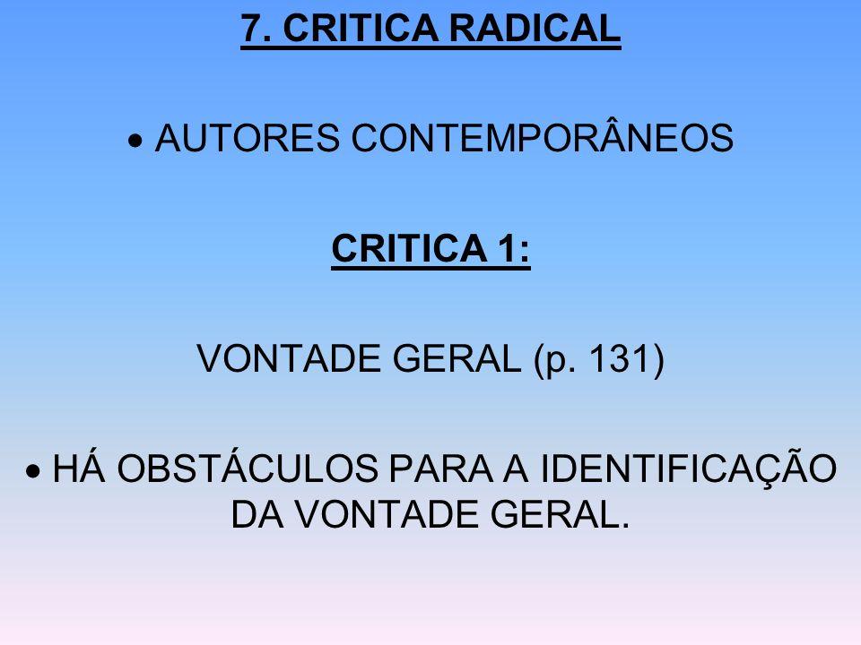 AUTORES CONTEMPORÂNEOS CRITICA 1: VONTADE GERAL (p. 131)