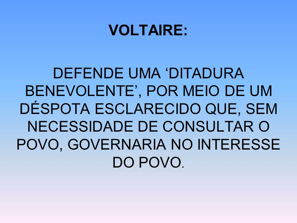 VOLTAIRE: