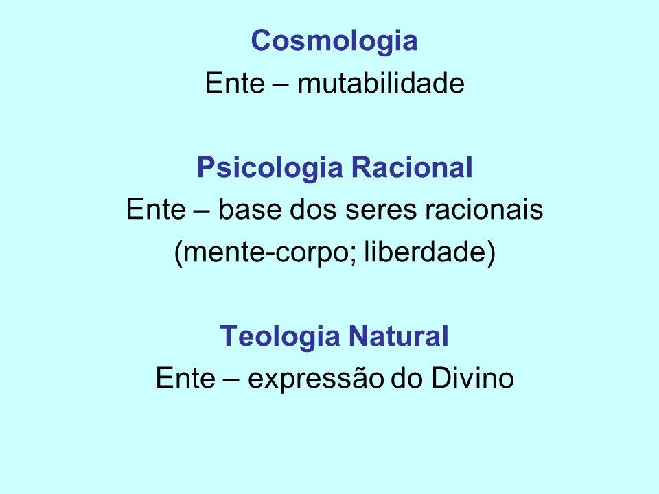 Cosmologia Psicologia Racional Teologia Natural