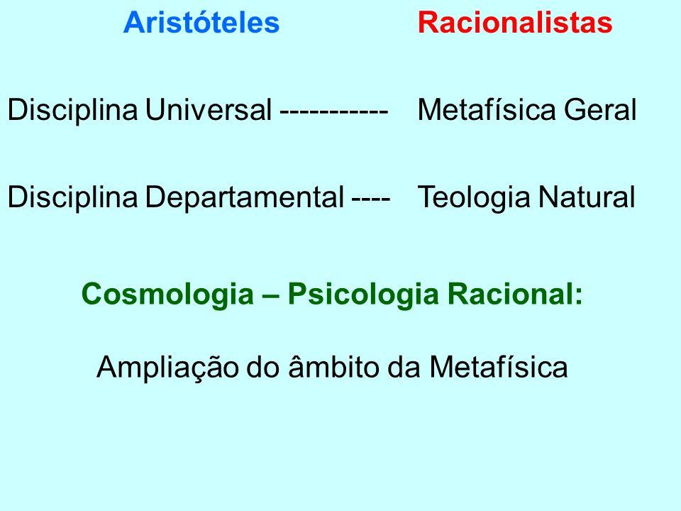 Cosmologia – Psicologia Racional:
