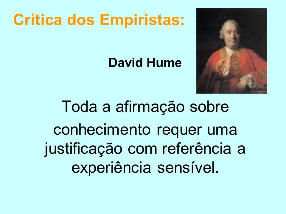 Crítica dos Empiristas: