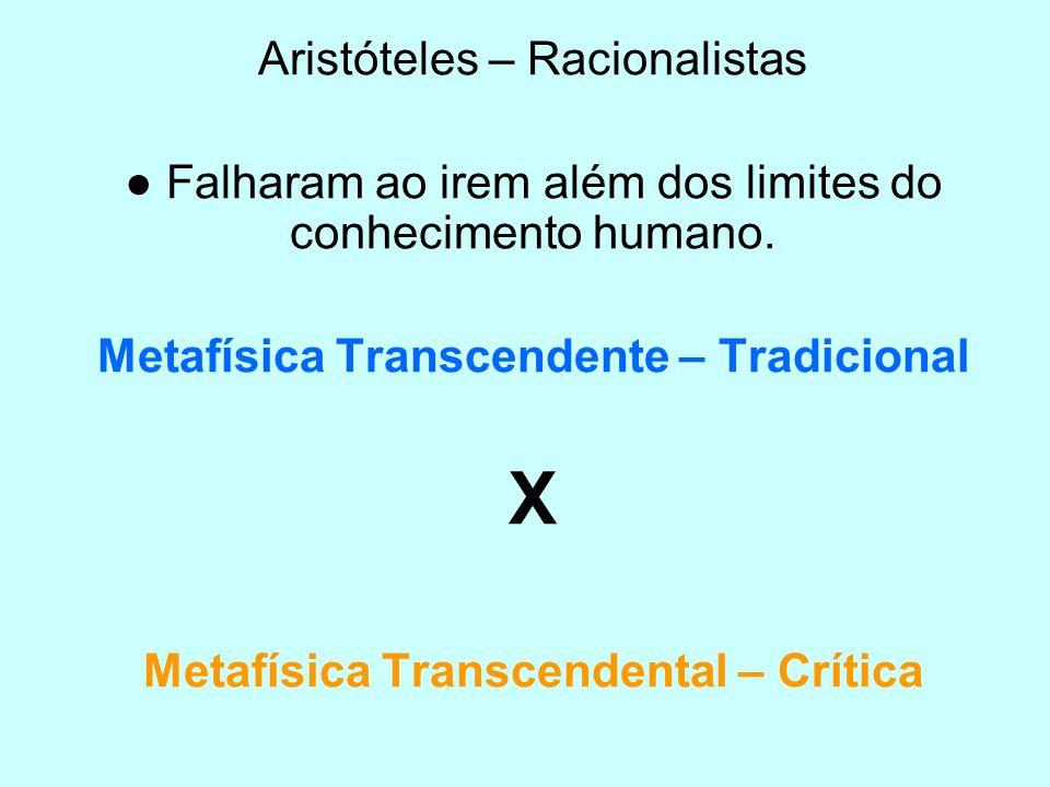X Aristóteles – Racionalistas