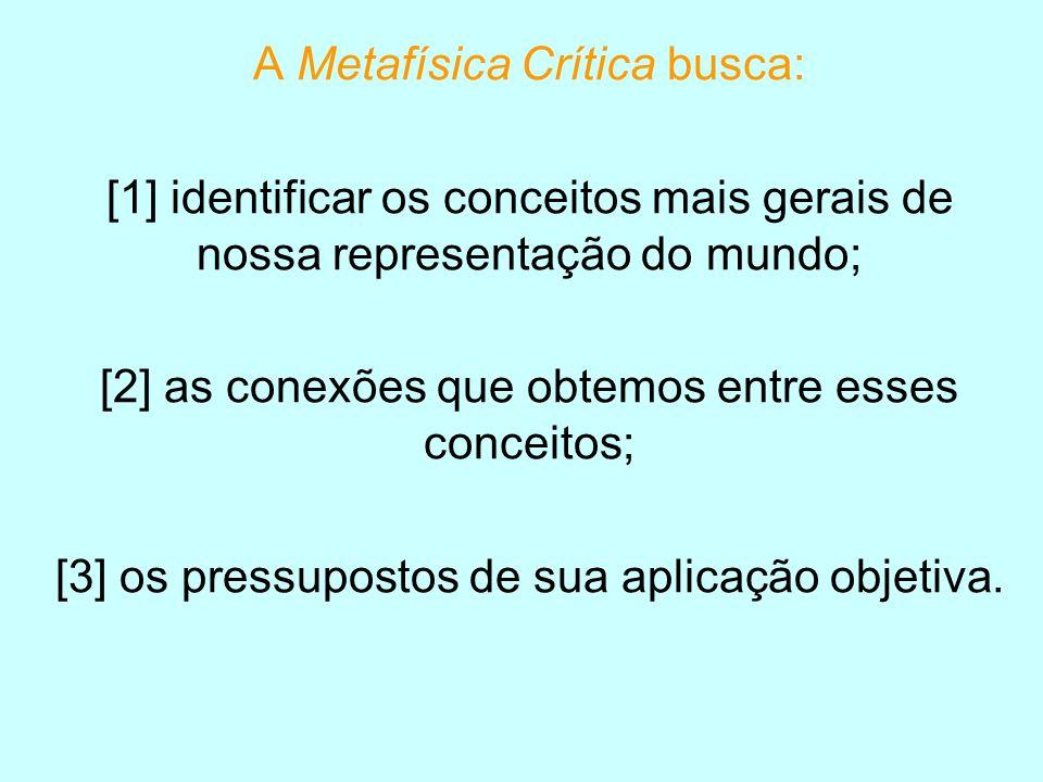 A Metafísica Crítica busca: