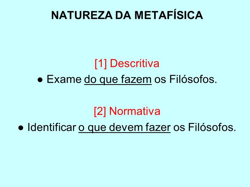 NATUREZA DA METAFÍSICA