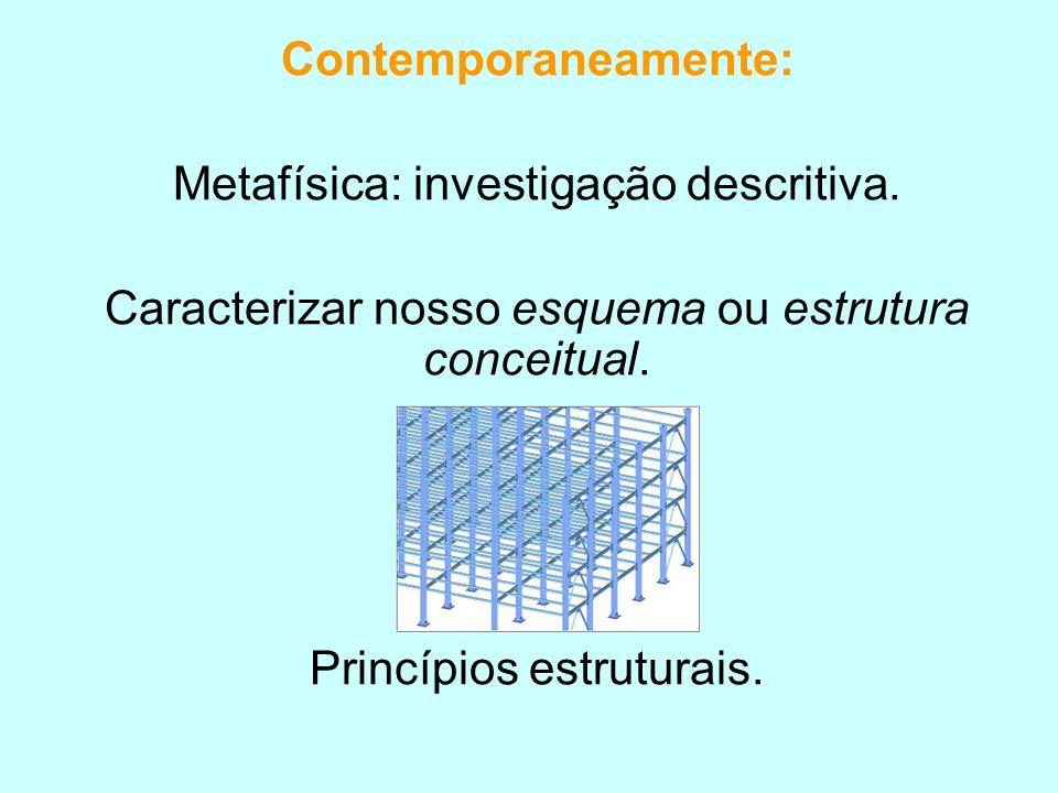 Metafísica: investigação descritiva.