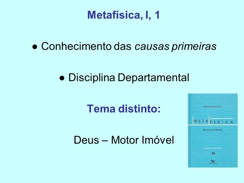 Metafísica, I, 1 Tema distinto: