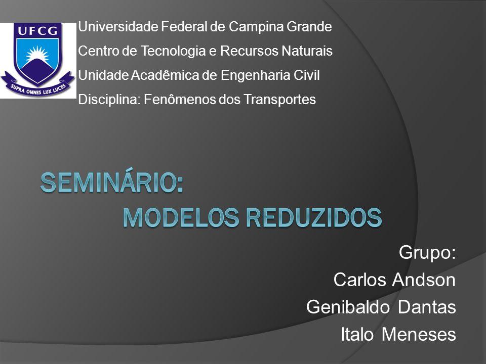 Seminário: MODELOS REDUZIDOS