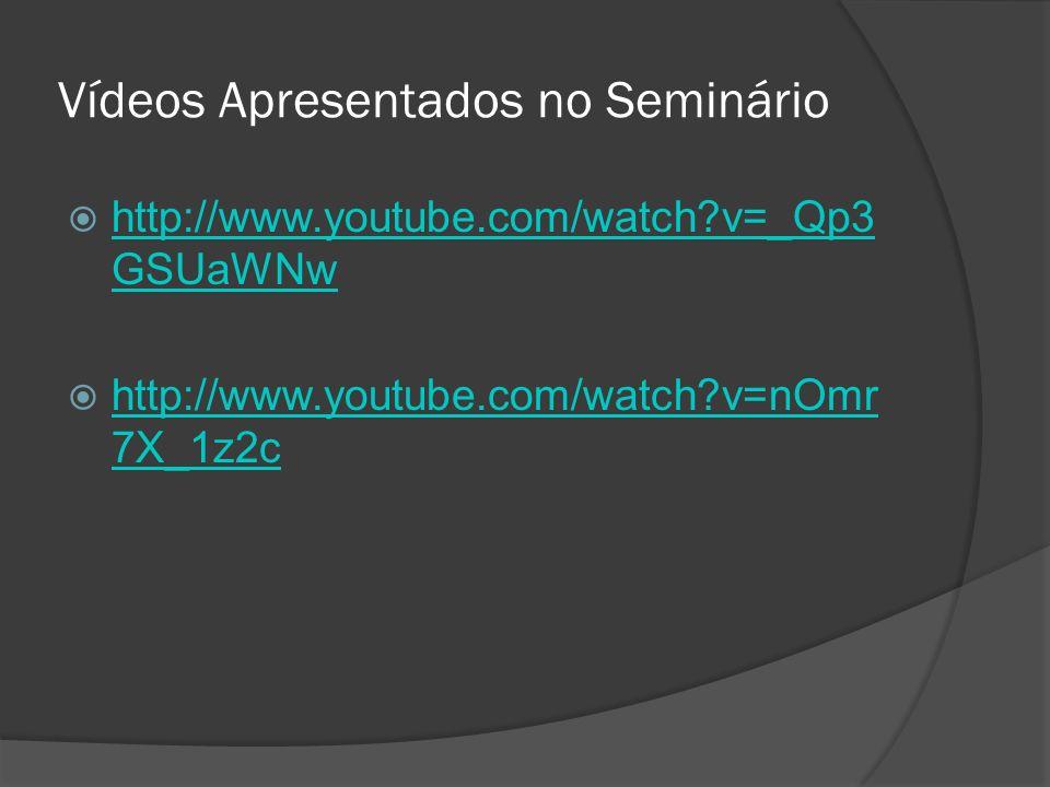 Vídeos Apresentados no Seminário