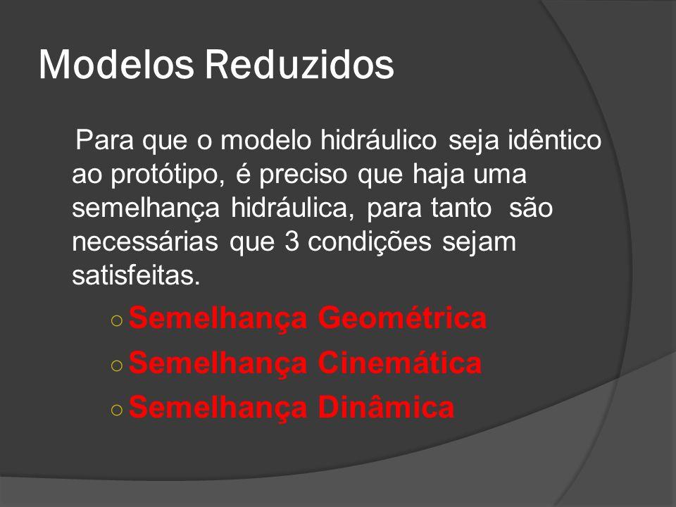 Modelos Reduzidos Semelhança Geométrica Semelhança Cinemática