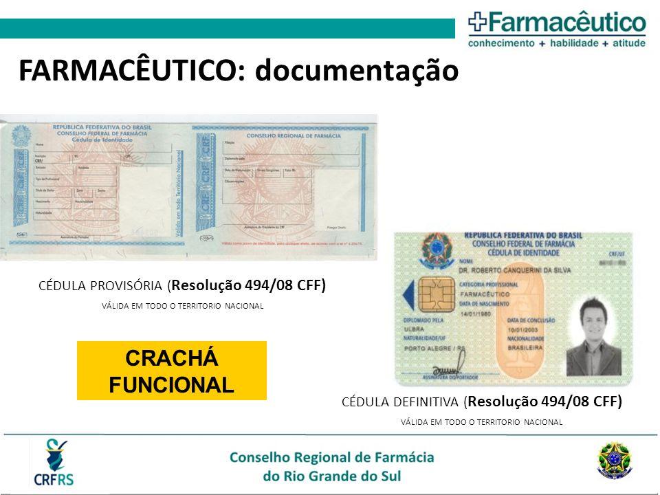 FARMACÊUTICO: documentação