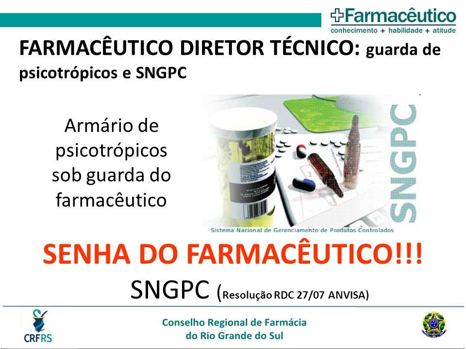 SNGPC (Resolução RDC 27/07 ANVISA)