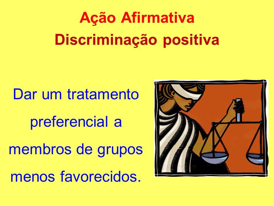 Ação Afirmativa Discriminação positiva