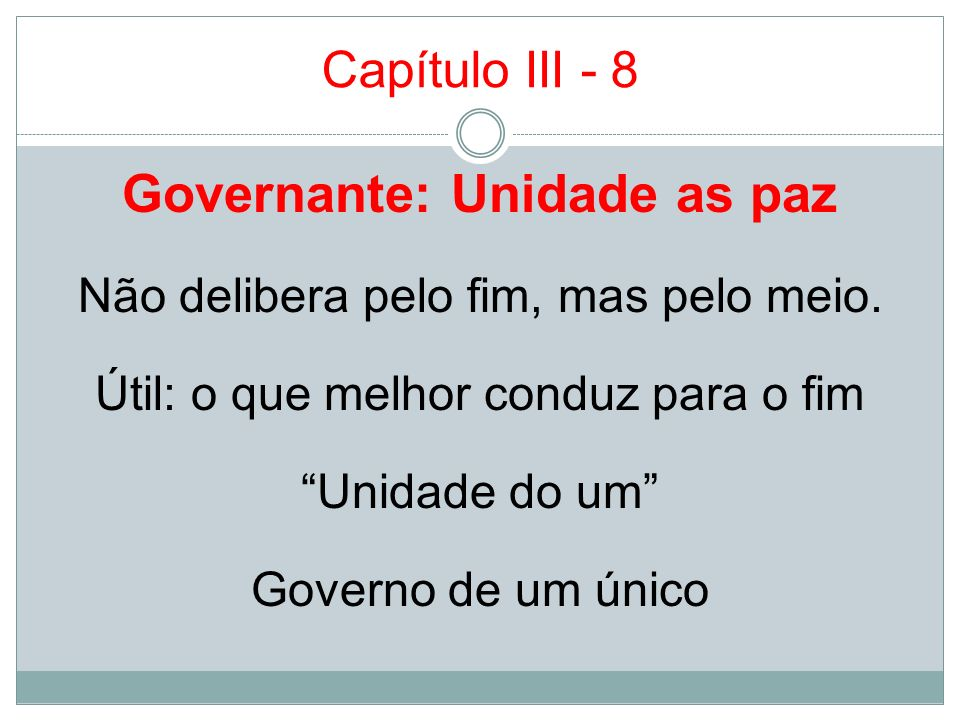 Governante: Unidade as paz