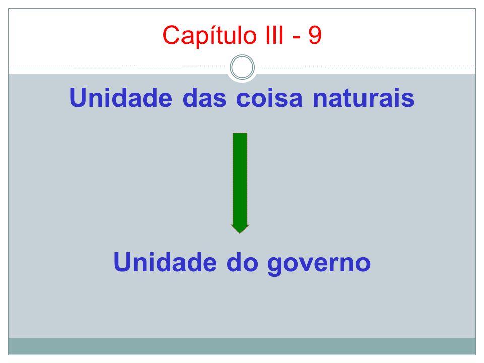 Unidade das coisa naturais Unidade do governo