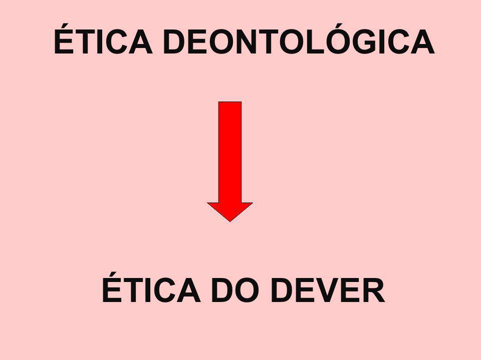 ÉTICA DEONTOLÓGICA ÉTICA DO DEVER