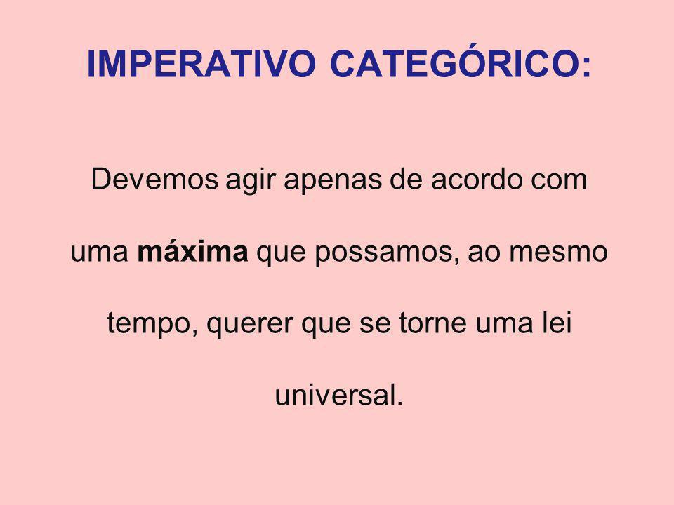 IMPERATIVO CATEGÓRICO: