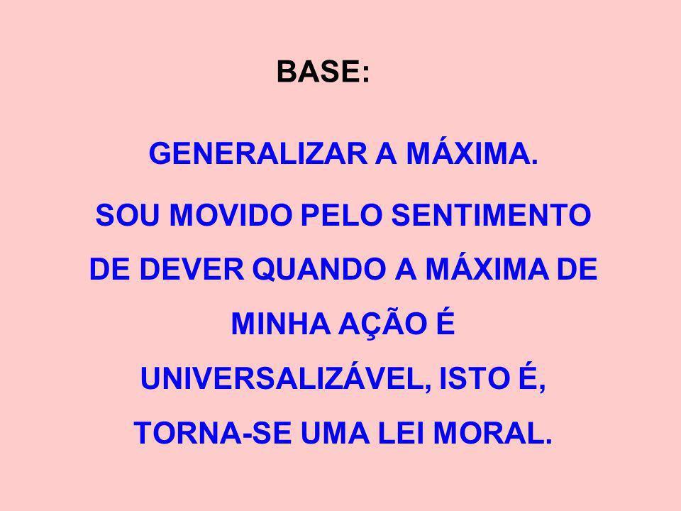 BASE: GENERALIZAR A MÁXIMA.