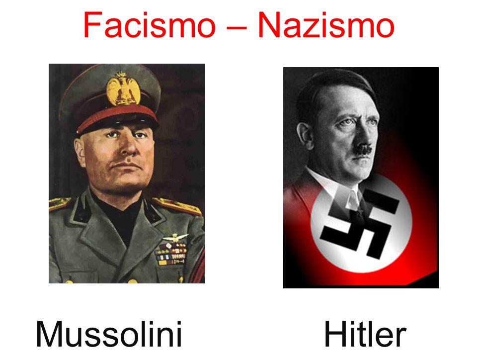Facismo – Nazismo Mussolini Hitler