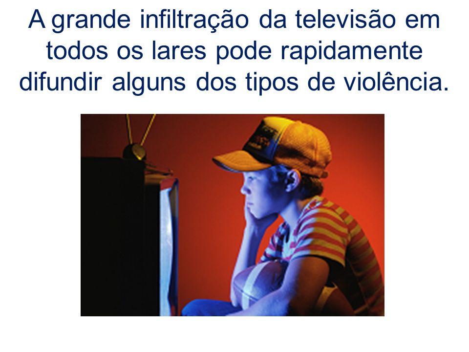 A grande infiltração da televisão em todos os lares pode rapidamente difundir alguns dos tipos de violência.