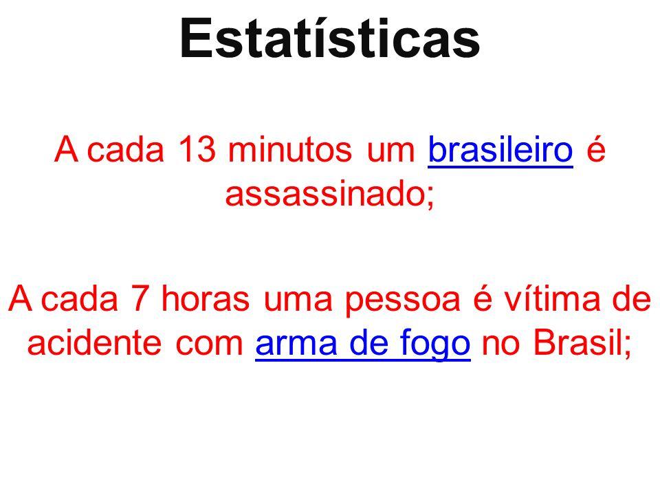 A cada 13 minutos um brasileiro é assassinado;
