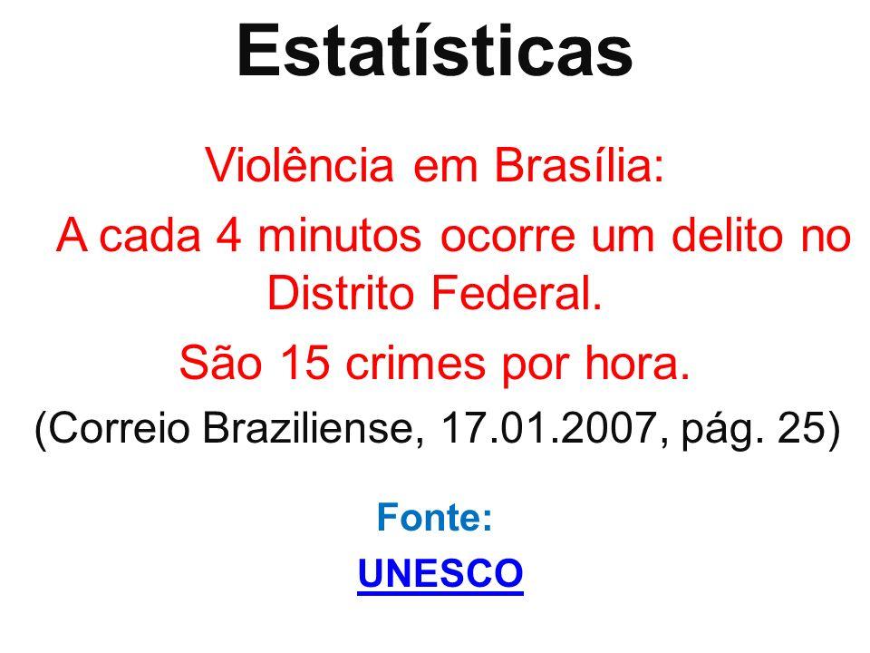 Estatísticas Violência em Brasília: