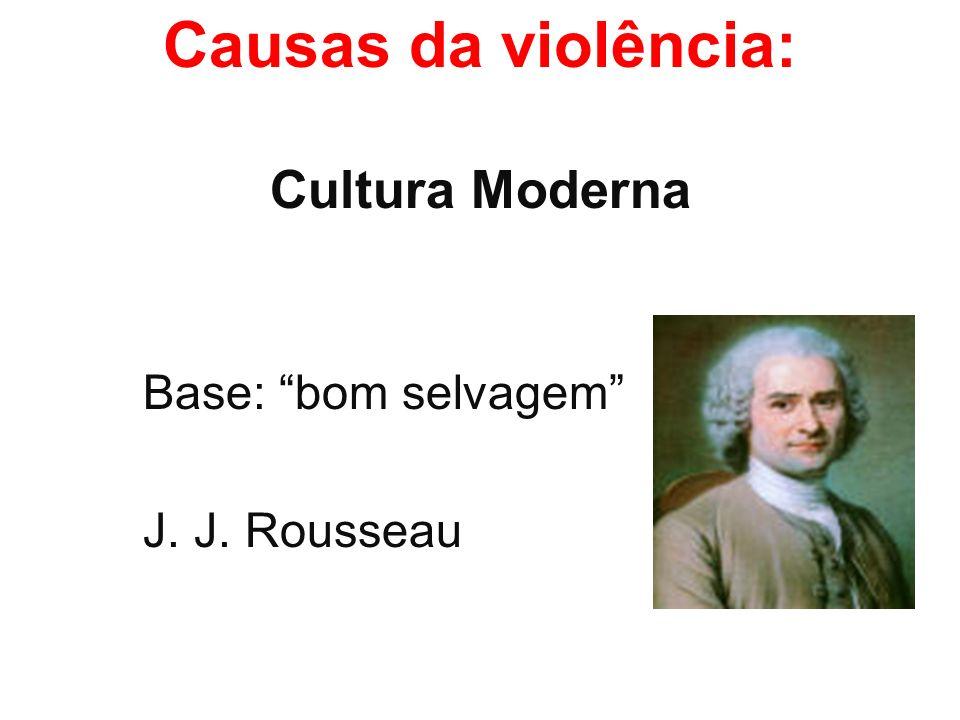 Causas da violência: Cultura Moderna Base: bom selvagem