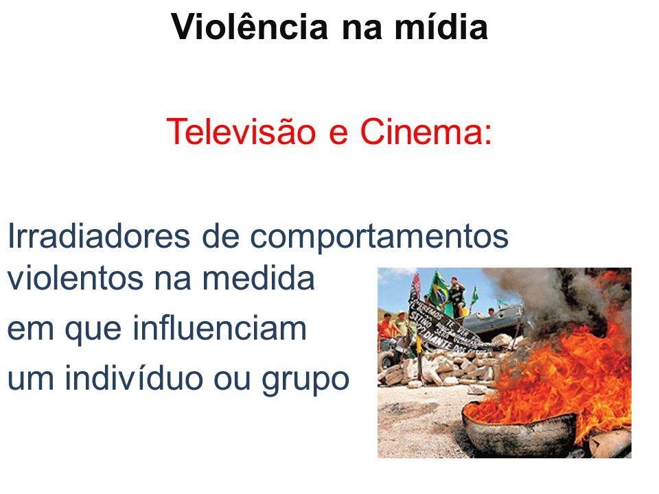 Violência na mídia Televisão e Cinema: