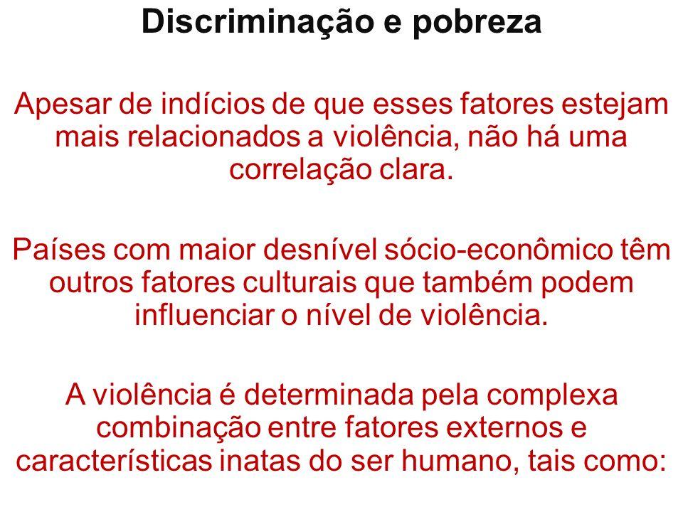 Discriminação e pobreza
