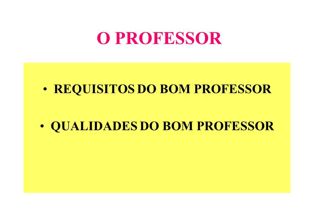 REQUISITOS DO BOM PROFESSOR QUALIDADES DO BOM PROFESSOR