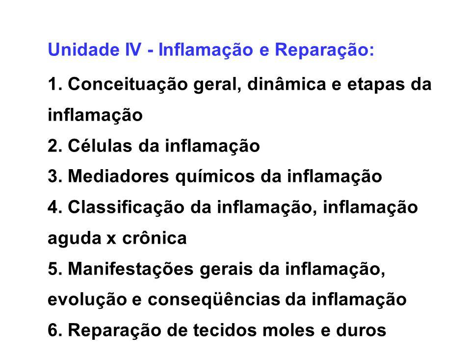 Unidade IV - Inflamação e Reparação: