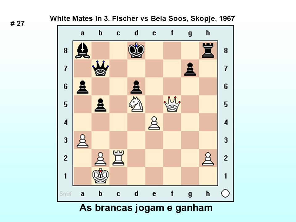 As brancas jogam e ganham