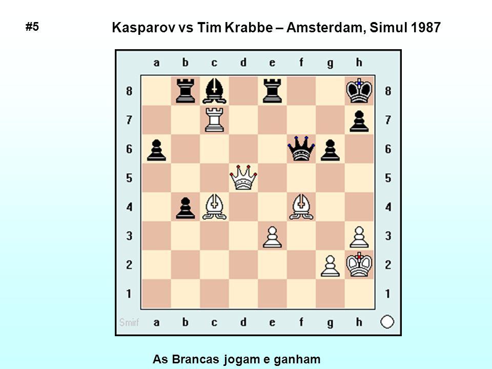 Kasparov vs Tim Krabbe – Amsterdam, Simul 1987