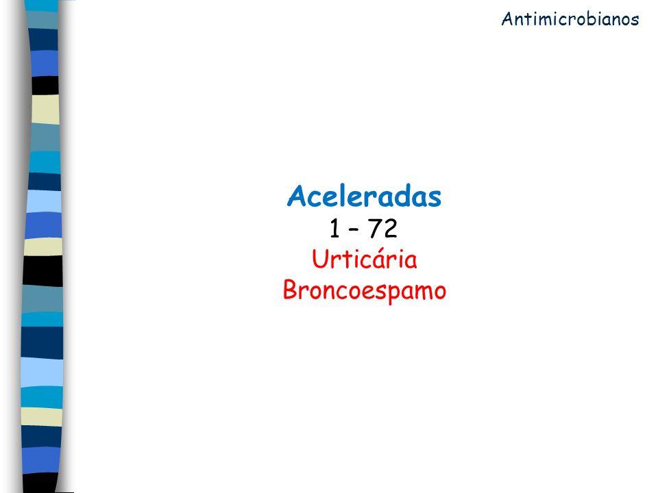 Aceleradas 1 – 72 Urticária Broncoespamo