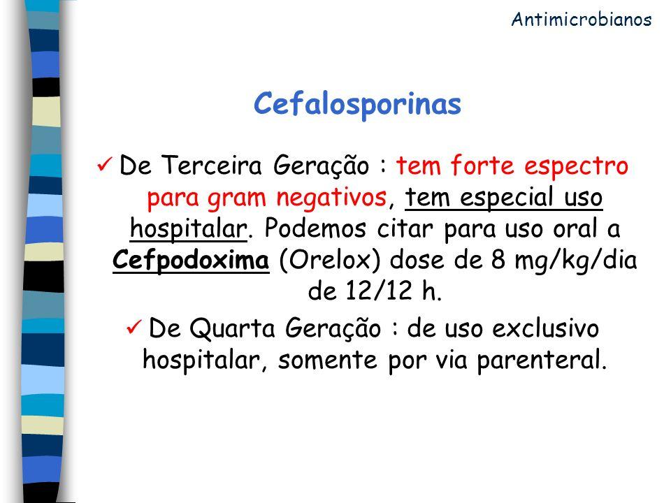 Antimicrobianos Cefalosporinas.