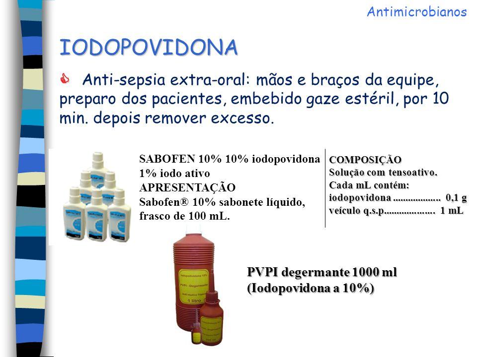 Antimicrobianos IODOPOVIDONA.
