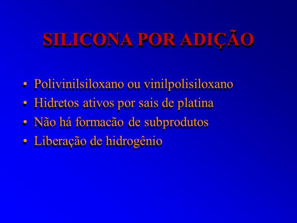 SILICONA POR ADIÇÃO Polivinilsiloxano ou vinilpolisiloxano