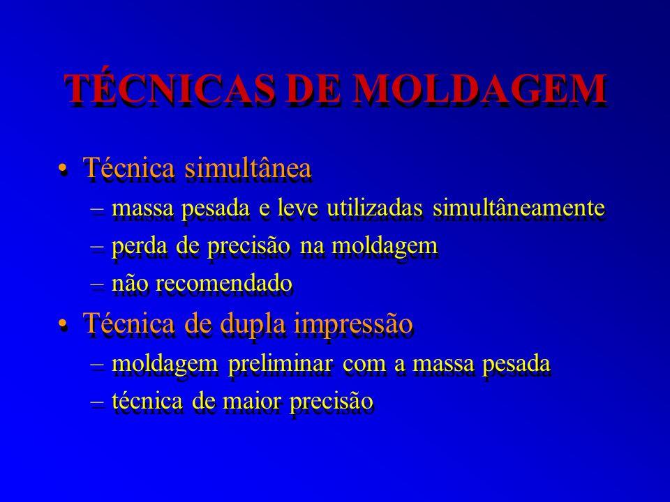 TÉCNICAS DE MOLDAGEM Técnica simultânea Técnica de dupla impressão
