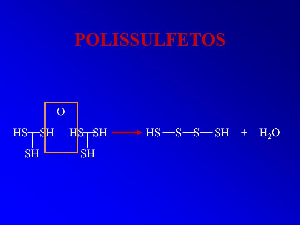 POLISSULFETOS O. HS SH HS SH HS S S SH + H2O.