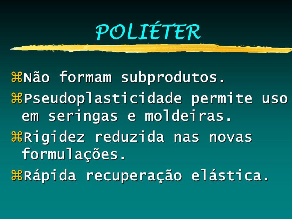 POLIÉTER Não formam subprodutos.