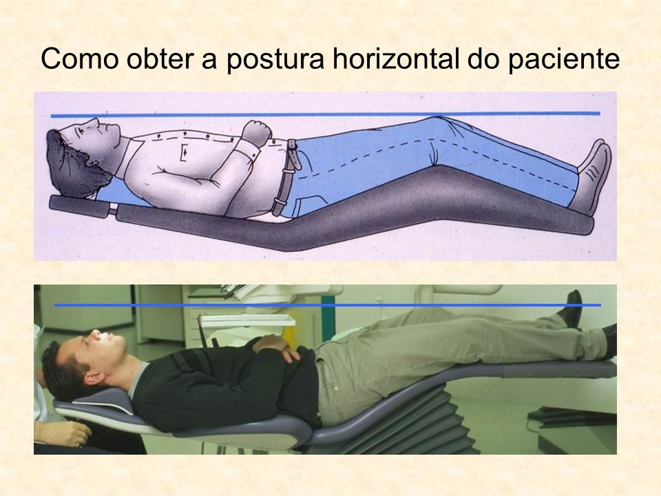 Como obter a postura horizontal do paciente