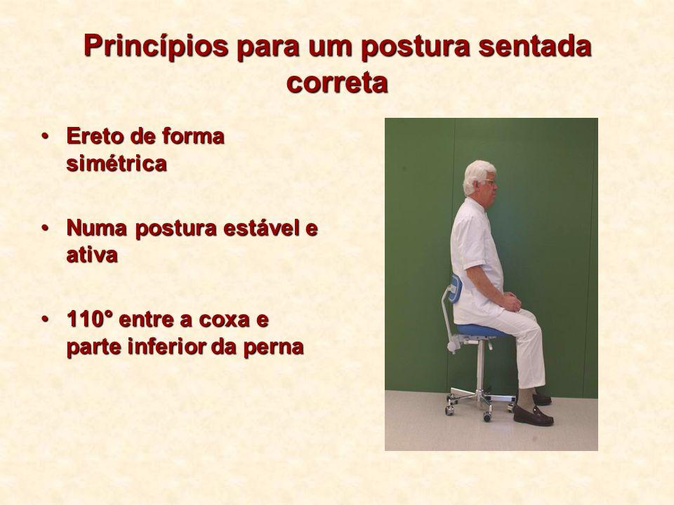 Princípios para um postura sentada correta