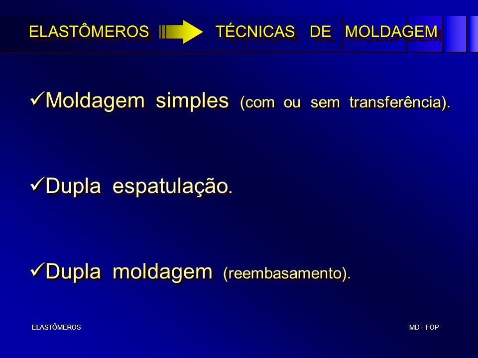 Moldagem simples (com ou sem transferência).