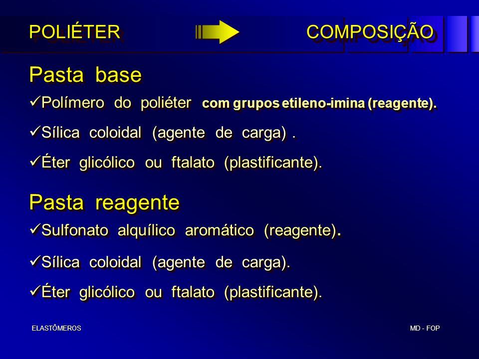 Pasta base Pasta reagente POLIÉTER COMPOSIÇÃO